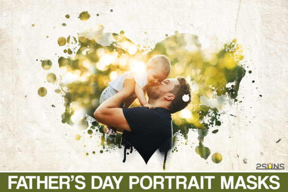 Father's Day Watercolor Masks Graphic Actions & Presets By 2SUNS