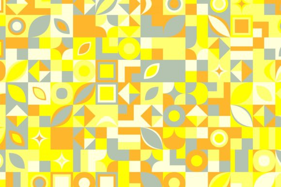 Download Free Geometric Mosaic Pattern Background Graphic By Davidzydd for Cricut Explore, Silhouette and other cutting machines.