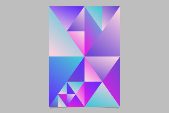Gradient Triangle Page Background Graphic Print Templates By davidzydd