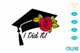 Download Free Graduation Cap Rose Graphic By Ollivestudio Creative Fabrica for Cricut Explore, Silhouette and other cutting machines.