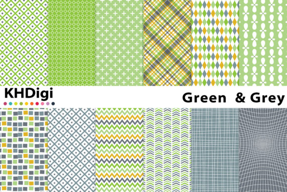 Download Free Green And Gray Digital Paper Graphic By Khdigi Creative Fabrica for Cricut Explore, Silhouette and other cutting machines.
