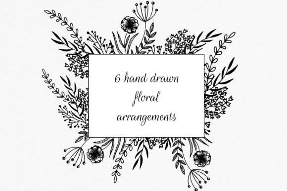 Hand Drawn Flowers Arrangements Graphic Objects By RedDotsHouse