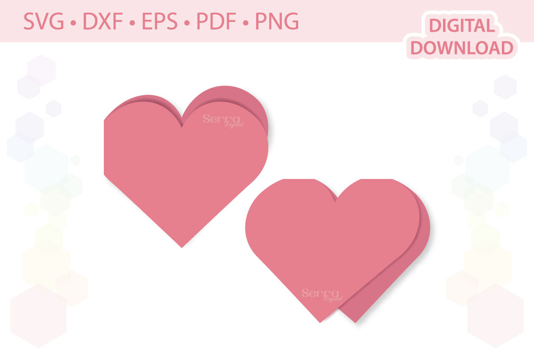 Download Free Heart Card Invitation Cut File Graphic By Serradigital for Cricut Explore, Silhouette and other cutting machines.