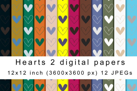 Print on Demand: Heart Digital Papers Graphic Textures By Andrea Kostelic