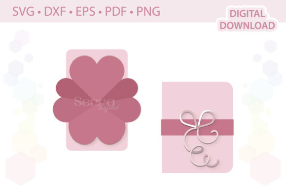 Heart Explosion Card Cut File Graphic By Serradigital Creative