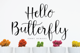 Print on Demand: Hello Butterfly Script & Handwritten Font By FatmaStudio