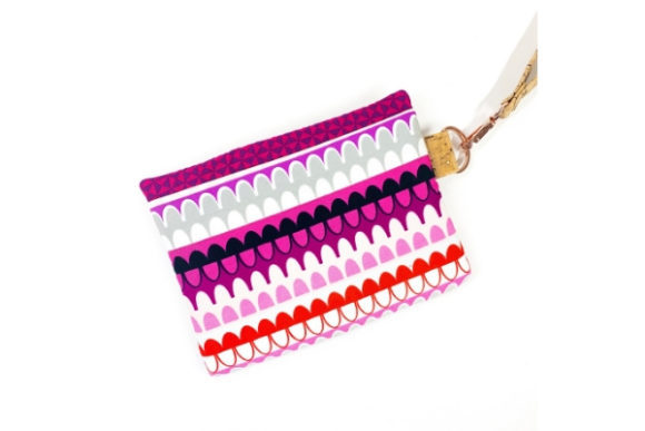 Hexi Stripe Zipper Bag in the Hoop Embroidery Item