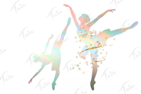 Download Free Holo Ballerinas Graphic By Tara Artisan Creative Fabrica for Cricut Explore, Silhouette and other cutting machines.