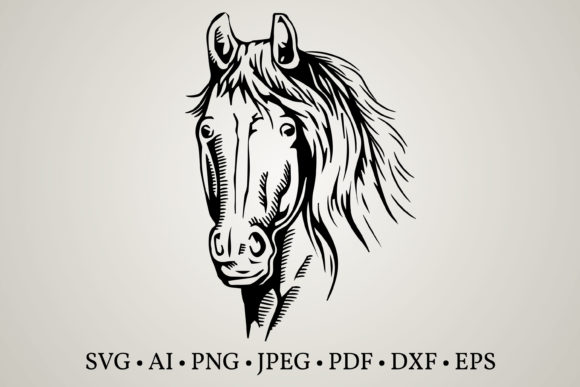 Download Free Horse Clipart Graphic By Euphoria Design Creative Fabrica for Cricut Explore, Silhouette and other cutting machines.