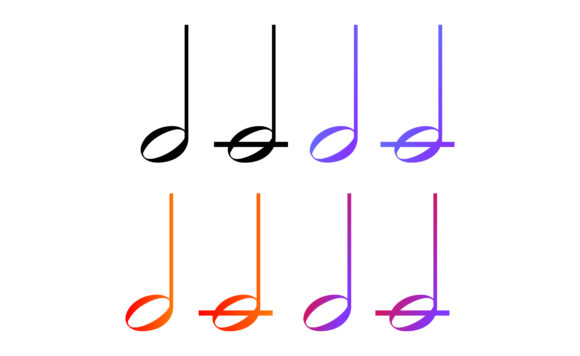 Download Free Icon Set Of Musical Notes With Gradation Graphic By Arief Sapta for Cricut Explore, Silhouette and other cutting machines.