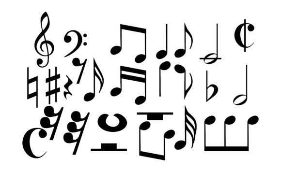 Download Free Icon Set Of Musical Notes Graphic By Arief Sapta Adjie SVG Cut Files