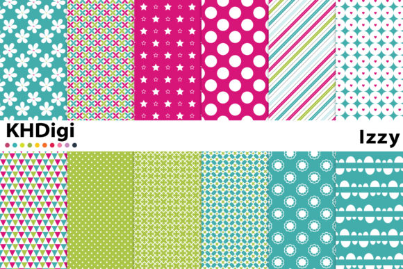 Print on Demand: Izzy Digital Paper Graphic Backgrounds By KHDigi
