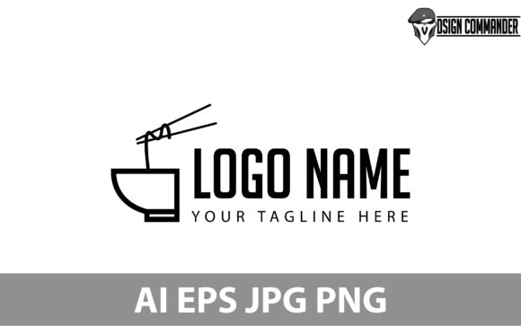 Download Free Japanese Noodle Ramen Logo Design Vector Graphic By for Cricut Explore, Silhouette and other cutting machines.