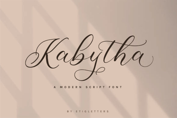 Download Free 1 Kabytha Font Designs Graphics for Cricut Explore, Silhouette and other cutting machines.