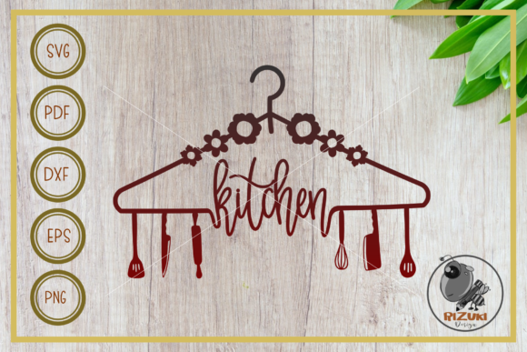 Download Free Kitchen Kitchen Tool With Hanger Graphic By Rizuki Store for Cricut Explore, Silhouette and other cutting machines.
