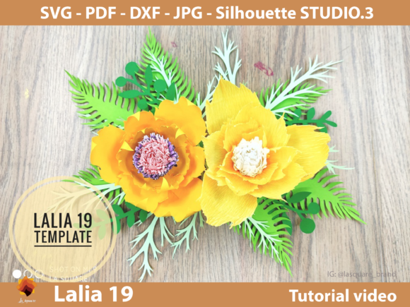 Download Free 5 Flower Rose Backdrop Template Designs Graphics for Cricut Explore, Silhouette and other cutting machines.