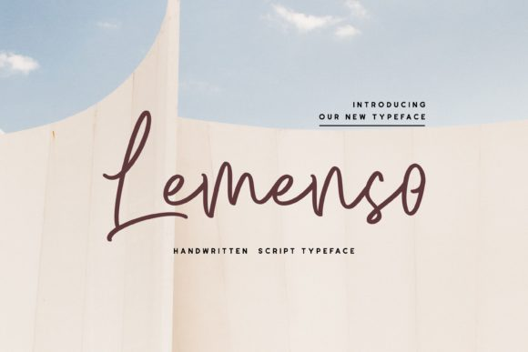 Print on Demand: Lemenso Script & Handwritten Font By Fype Co.