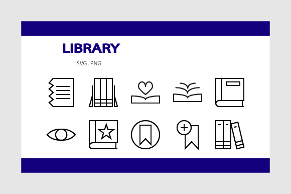 Print on Demand: Library Icon Pack Graphic Icons By Rheinata Creative