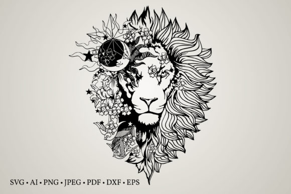 Lion Flower Clipart Graphic Crafts By Euphoria Design