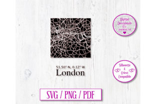 London Road Map Decal Graphic 3D SVG By Jumbleink Digital Downloads