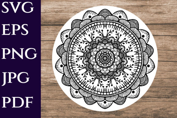 Download Free 4 Mandala Png Designs Graphics for Cricut Explore, Silhouette and other cutting machines.