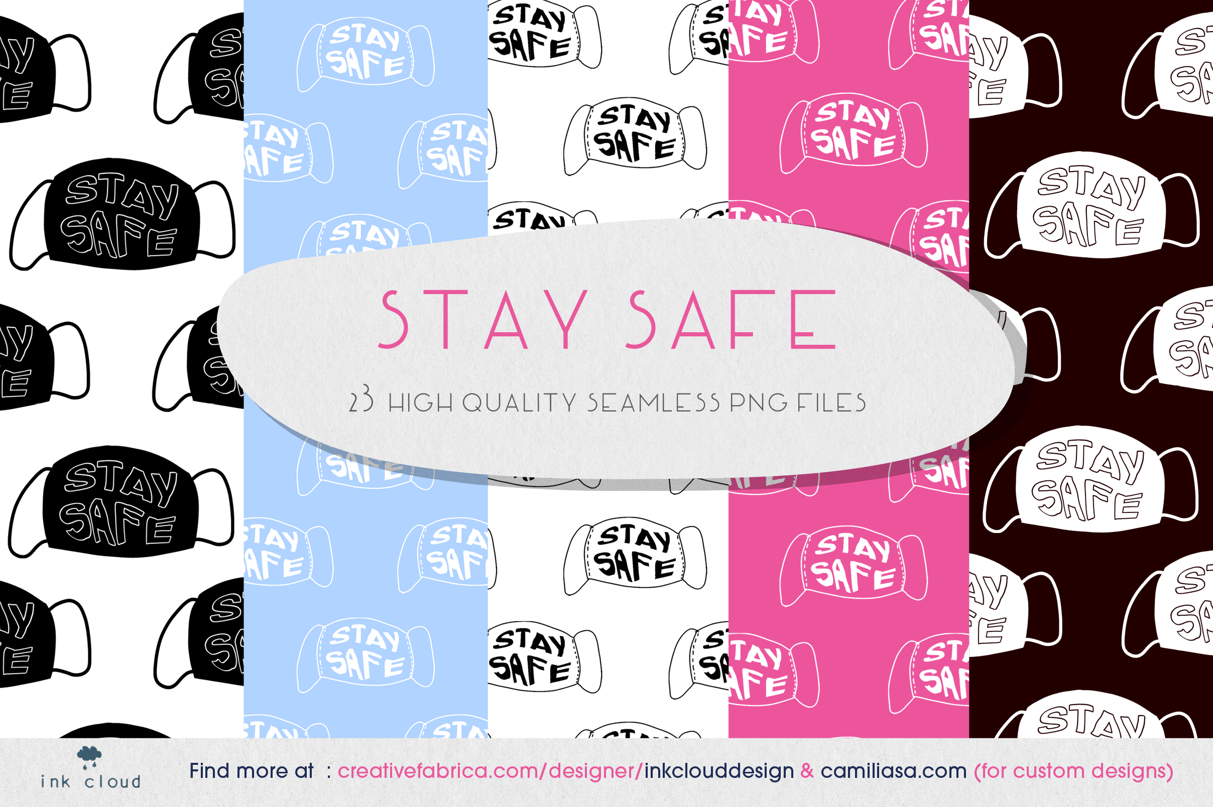 Download Free Mask Covid 19 Hygiene Stay Safe Home Graphic By for Cricut Explore, Silhouette and other cutting machines.