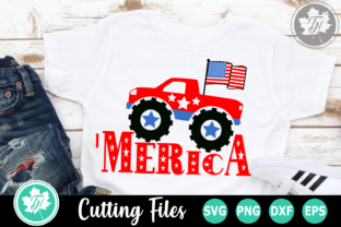 Download Free Merica Monster Truck Graphic By Truenorthimagesca Creative Fabrica for Cricut Explore, Silhouette and other cutting machines.