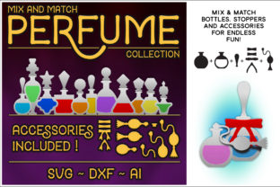 Print on Demand: Mix & Match Perfume Bottle Cutting Files Graphic Crafts By gentlemancrafter