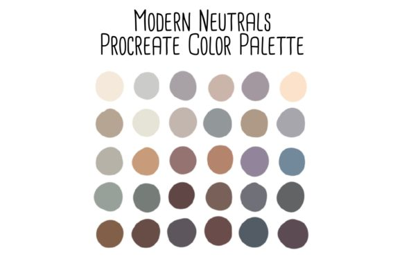 Print on Demand: Modern Neutrals Procreate Color Palette Graphic Add-ons By RoughDraftDesign