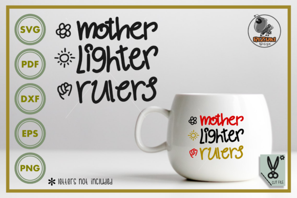 Download Free Mother Day Mother Lighter Rulers Graphic By Rizuki Store for Cricut Explore, Silhouette and other cutting machines.