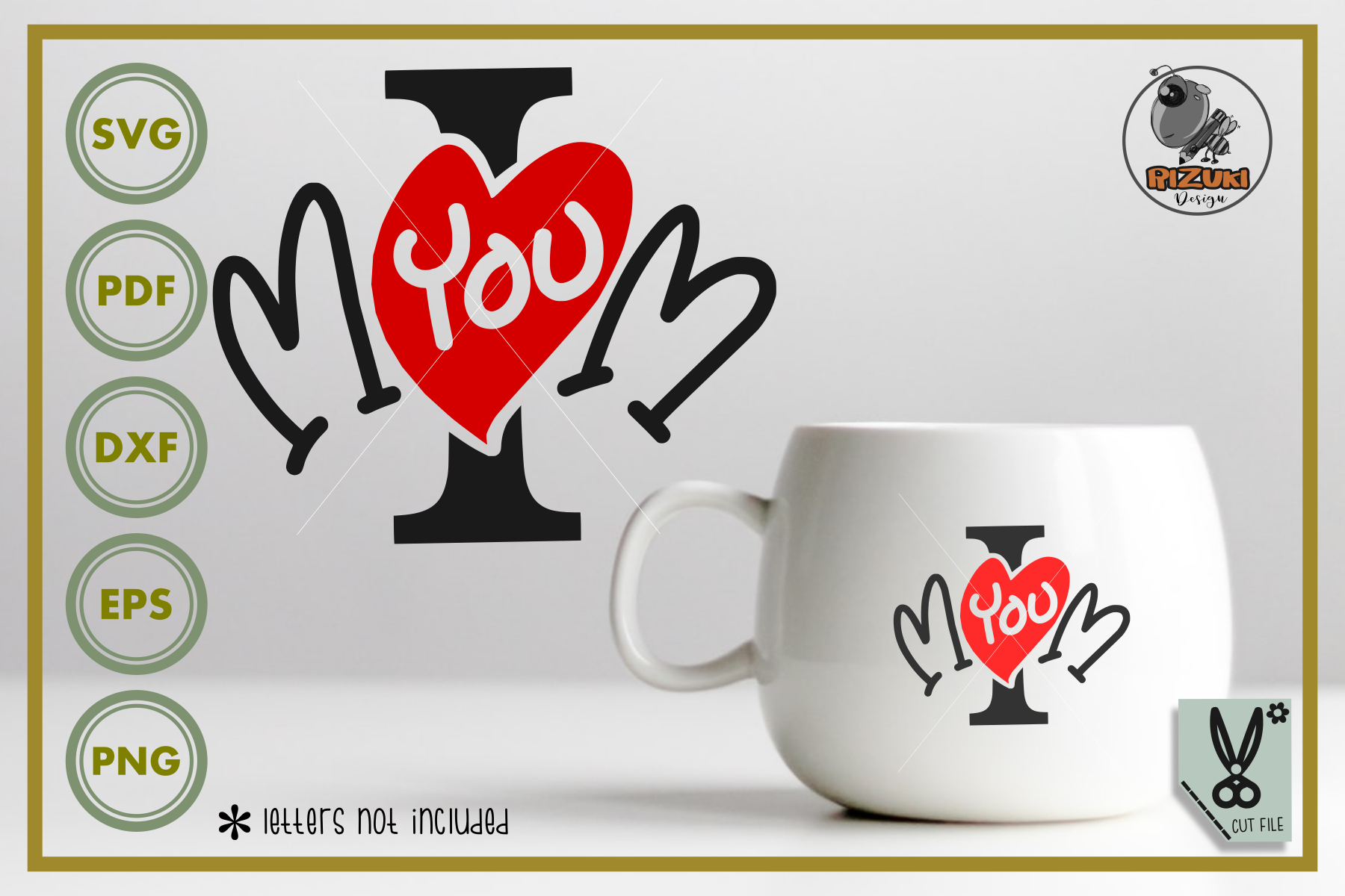 Download Free I Love You Mom Graphic By Rizuki Store Creative Fabrica for Cricut Explore, Silhouette and other cutting machines.