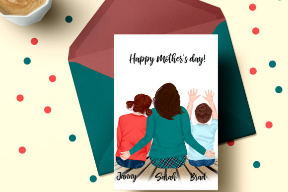 Mother and Kids Mother's Day Clipart Graphic Illustrations By LeCoqDesign - Image 5