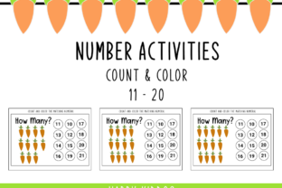 Number Activities: Count and Color 11-20 Graphic PreK By Happy Kiddos 1