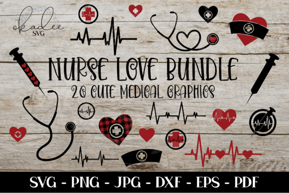 Nurse Bundle, Nurse Clipart Graphic Crafts By okadee.svg