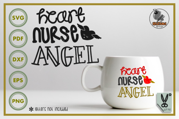 Download Free Heart Nurse Angel Graphic By Rizuki Store Creative Fabrica for Cricut Explore, Silhouette and other cutting machines.