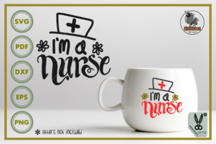 Download Free I M A Nurse Silhouette Graphic By Rizuki Store Creative Fabrica for Cricut Explore, Silhouette and other cutting machines.