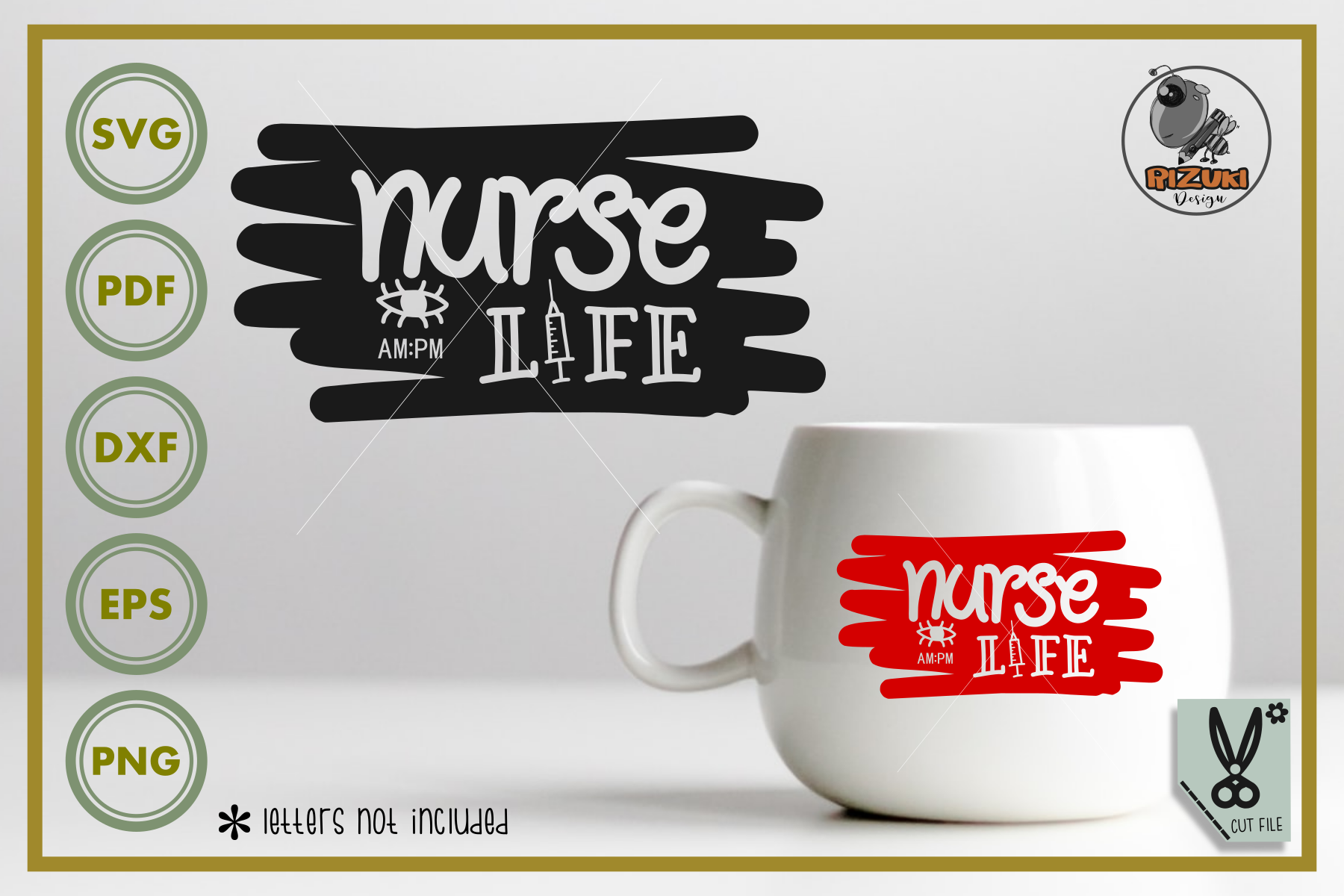 Download Free Nurse Life Silhouette Graphic By Rizuki Store Creative Fabrica for Cricut Explore, Silhouette and other cutting machines.