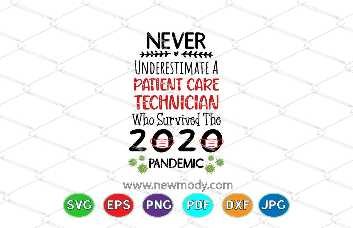 Download Free Patient Care Technician Who Survived Graphic By Amitta for Cricut Explore, Silhouette and other cutting machines.