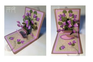 Pop Up Violets Graphic 3D SVG By patrizia.moscone