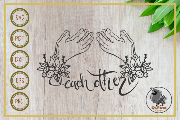Download Free Pray Each Other Cut File Decor Graphic By Rizuki Store for Cricut Explore, Silhouette and other cutting machines.