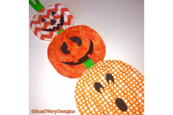 Pumpkin Door Hanger Halloween Embroidery Design By Sookie Sews
