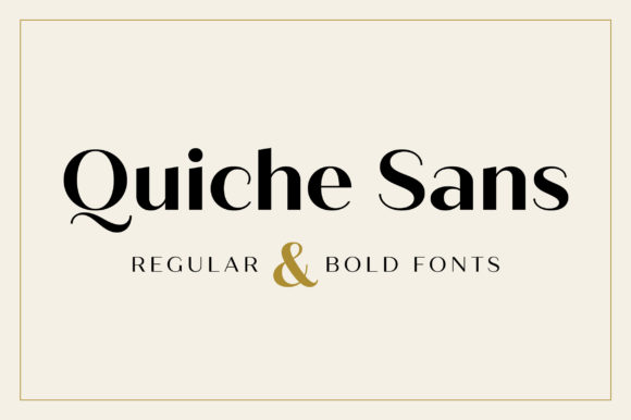 Print on Demand: Quiche Sans Sans Serif Font By Adam Ladd