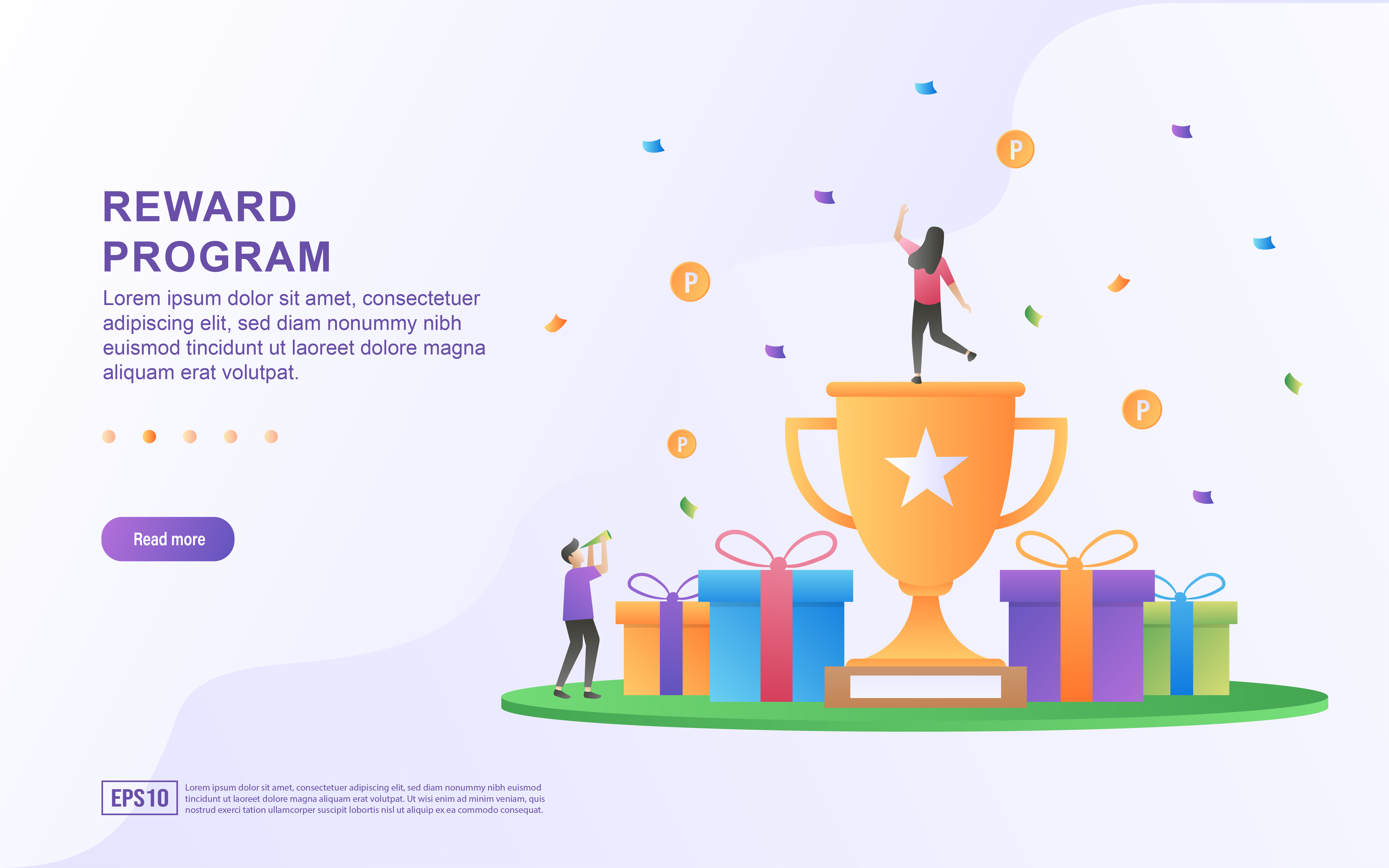 Download Free Reward Program Concept Design Graphic By Efosstudio Creative for Cricut Explore, Silhouette and other cutting machines.