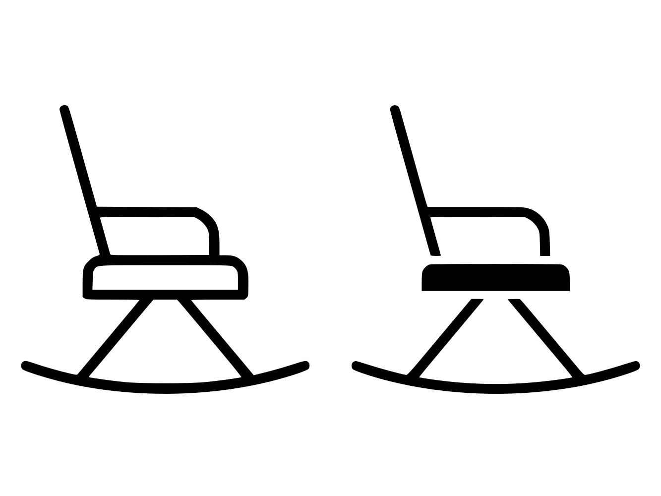Download Free Rocking Chair Line And Glyph Icon Graphic By Anrasoft Creative for Cricut Explore, Silhouette and other cutting machines.