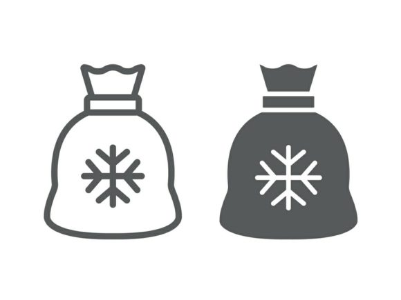 Download Free Santa Bag Line And Glyph Icon Graphic By Anrasoft Creative Fabrica SVG Cut Files