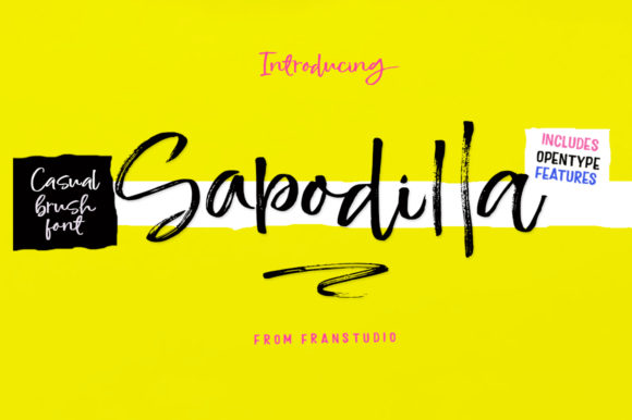 Print on Demand: Sapodilla Script & Handwritten Font By Franstudio
