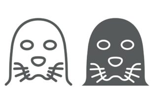 Seal Line And Glyph Icon Graphic By Anrasoft Creative Fabrica