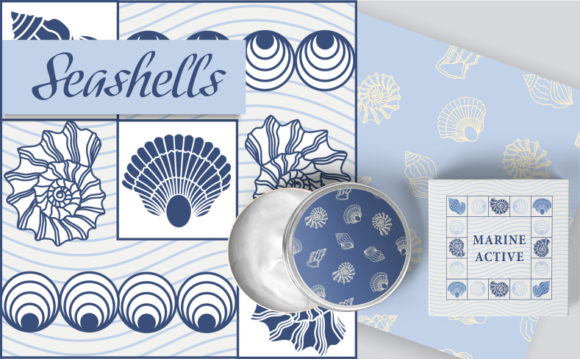 Print on Demand: Seashells Graphic Objects By Em-Pal
