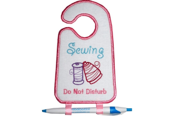 Download Free Sewing Door Hanger Creative Fabrica for Cricut Explore, Silhouette and other cutting machines.