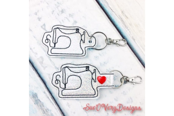 Sewing Machine Key Fob Embroidery